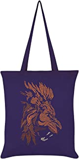 Unorthodox Collective Vector Lion Tote Bag Purple 38 x 42cm