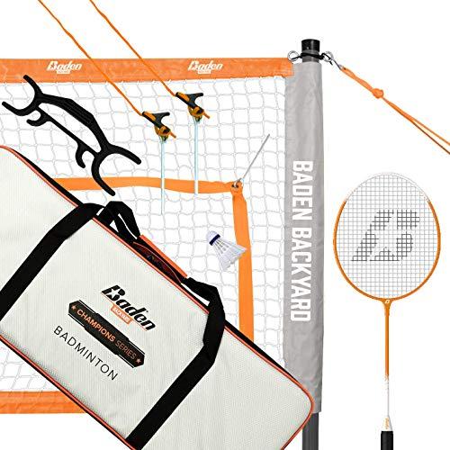 Baden Champions Badminton Set Orange/Gray