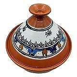 Tajine 0907211106 Casserole Terre cuite Plat Ethnique Marocain Tunisino L 27 cm