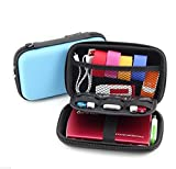Small Protective Diabetic Travel Case Testing Supplies Organizer Pouch Bag for Glucose Meter/Testing Strips/Lancing Device/Lancets/Blood Glucose Monitoring System (Light Blue)
