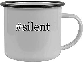 #silent - Stainless Steel Hashtag 12oz Camping Mug, Black