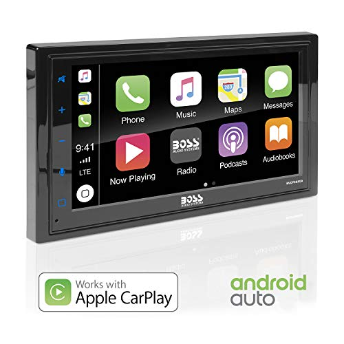BOSS Audio BVCP9685A Apple Carplay Android Auto Car Multimedia Player - Double Din Car Stereo, 6.75...