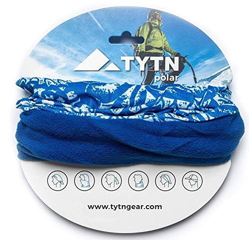 TYTN Neck Warmer Head Scarf - Multifunctional Bandana for outdoor wear - Microfiber & Polar Fleece