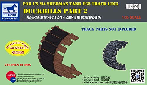 Unbekannt Bronco Models ab3550 – Modélisme zubehrö duckbills Part 2 for Us M4 Sherman Réservoir T62 Track Lien