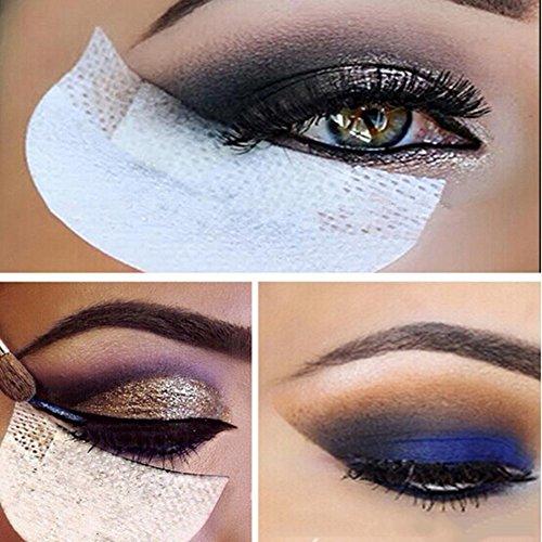Professionelle 100PCS weißer weich fussel unter Augen Lippe patch pad - Lidschatten Shields Pads Abdeckungen für Augen Make Up Hilfe
