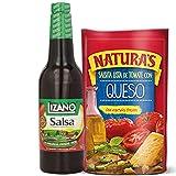 Salsa original De Lizano, Salsa de Verduras, Vegana, Sin Gluten 23.7 oz/ 700 ml + Naturas Salsa con Queso, Salsa de Verduras lista para usar, Sabor único (227 g, 8 oz)