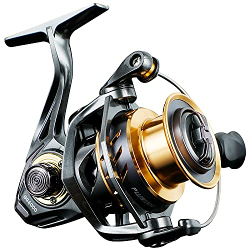 PLUSINNO GG Fishing Reel, High Speed Spinning Reel with 5.1:1 - 5.7:1 Gear Ratio, 22-30 LB Powerful Drag System, 9+1BB, Aluminum Spool for Fresh Water and Saltwater GG4000