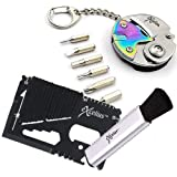 EXCELIUS Wallet Multitool, Keychain Tool, Computer Screen Duster Bundle