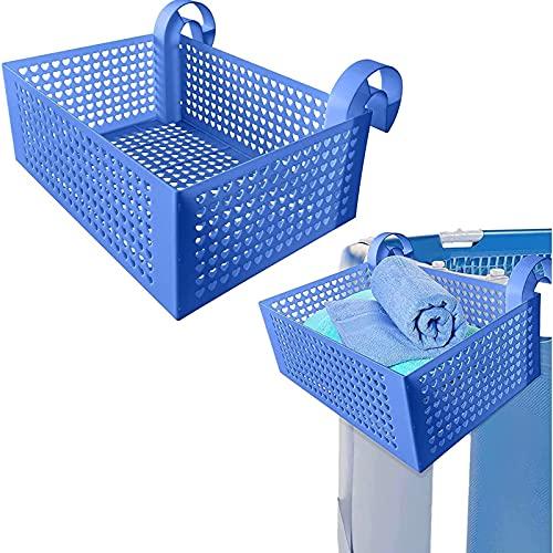 AHURGND Cesta de almacenamiento para piscinas enmarcadas, 11LB Capacidad de carga grande para colgar Piscina Cesta de almacenamiento, accesorios de piscina extraíbles para la piscina por encima del su