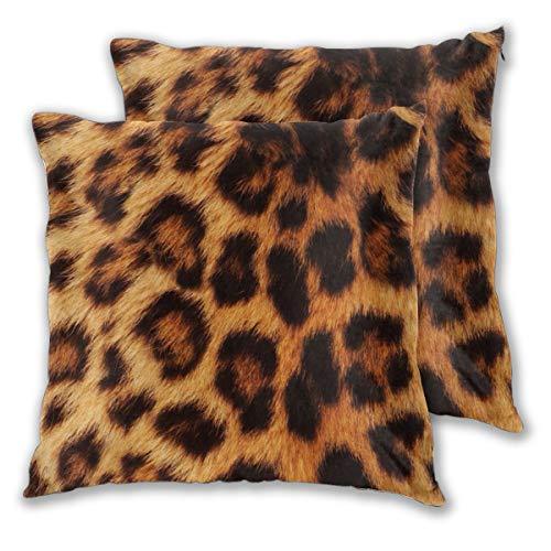 Set di 2 federe per cuscino con motivo leopardo, per divano, sedia, divano, camera da letto, decorazione