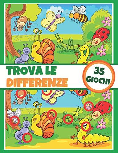 Trova le differenze - 35 giochi: Libro di attività per bambini - Libro di giochi - A...