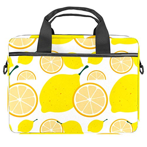 Protective Carry Case Luxury Computer Briefcase Suitable for 13.4'-14.5' Laptop with Display Lemon Yellow