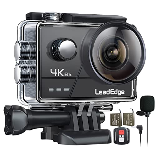LeadEdge Caméra Sport 4K/30FPS 1080P/60FPS20MP EIS Stabilisateur...