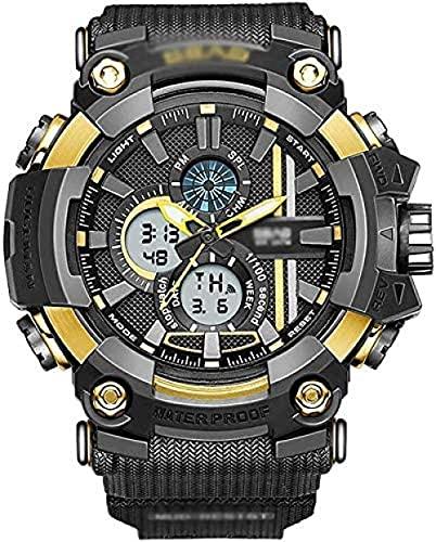 YLB Los Relojes Militares del Deporte Digital de los Hombres Reloj electrónico Casual para los Hombres Grandes números 50M Diseño Simple Impermeable con Reloj de Alarma SmartWatches-B (Color : C)