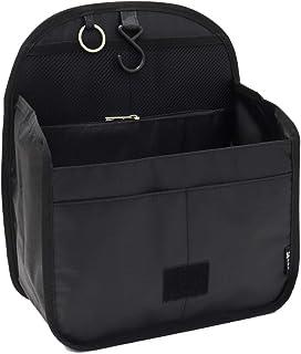 バッグインバッグ リュックインバッグ 軽量 縦型 大容量 キーリング小さめ 大きめ 整理 収納 バッグ メッシュ ポケット トラベルポーチ インナーバッグ リュック