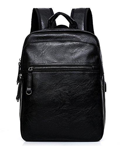 beibao shop Backpack Sacs à Dos pour Ordinateur Portable Commerce Casual PU Grande capacité Chargement USB Extérieur Voyager Multi-Fonctionnel Sac à Dos d'ordinateur
