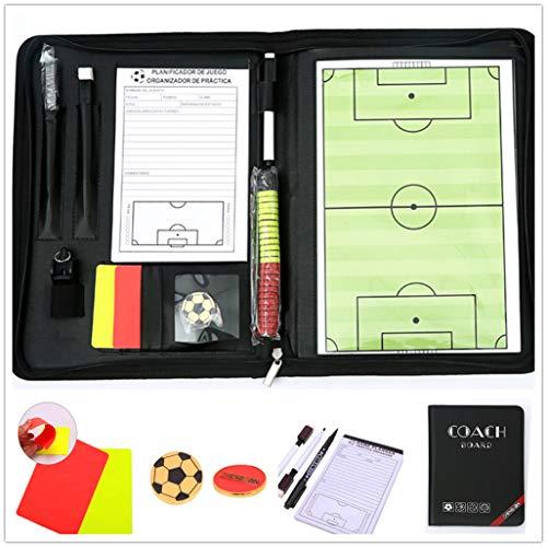 LaceDaisy Professional Abatible Pizarra Táctica de Fútbol Carpeta Táctica Magnéticas para Entrenador Entrenamiento de Fútbol con Imanes Lapiceros