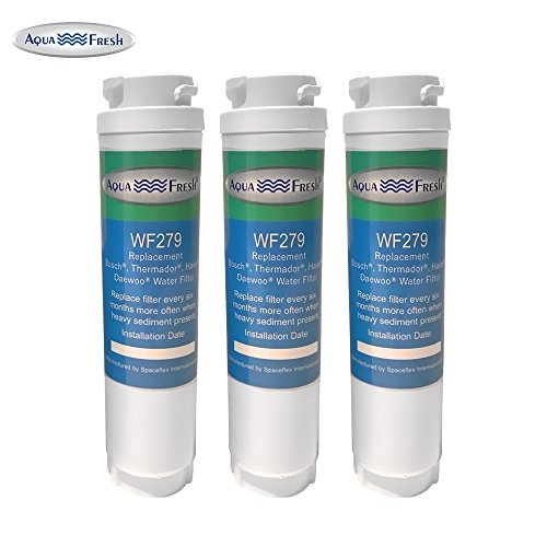 Aquafresh WF279 Replacement for Bosch 644845 Ultra Clarity, Haier 0060820860, Miele KWF1000 Refrigerator Water Filter (3 Pack)