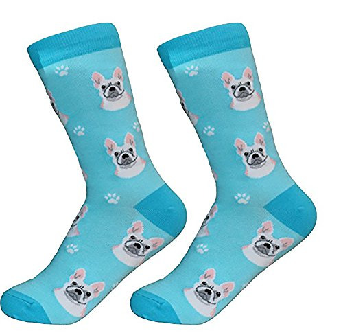French Bulldog Socks -200 Needle Count-Cotton Socks- Life Like Detail of Frenchbulldog - Unisex, One Size Fits Most