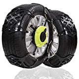 Big Ant Snow Chain Anti-Skid Tire Snow Chains,Emergency Traction Car Snow Tyre Chains Universal for Light Truck SUV Tire Chain Set of 2