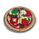 Melissa & Doug 13974 Filz-Lebensmittel Pizza-Set, Mehrfarbig