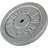 GORILLA SPORTS® Hantelscheibe Einzeln/Set Gusseisen - 1,25-30 kg Gewichte mit 30/31 mm Bohrung in Silber/Schwarz/Gold