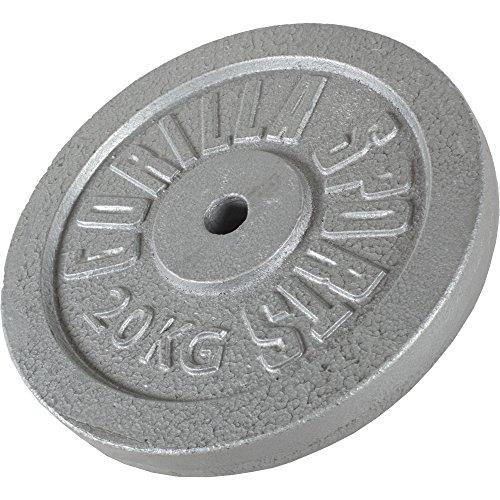 GORILLA SPORTS® Hantelscheiben-Set Gusseisen 30 kg - Gewichte mit 30/31 mm Bohrung in Gold