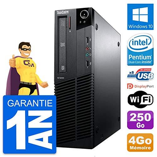Lenovo PC Thinkcentre M81 SFF Intel G630 RAM 4Go Scheibe 250Go Windows 10 Wifi (Generalüberholt)