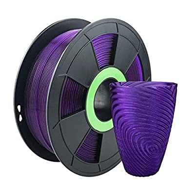 ZIRO PLA Translucent Filament 1.75mm 3D Printer Filament PLA PRO Translucent Series 1.75mm 1KG(2.2lbs), Dimensional Accuracy +/- 0.03mm,Translucent purple