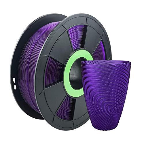 ZIRO PLA Translucent Filament 1.75mm 3D Printer Filament PLA PRO Translucent Series 1.75mm 1KG(2.2lbs), Dimensional Accuracy +/- 0.03mm,Translucent purple