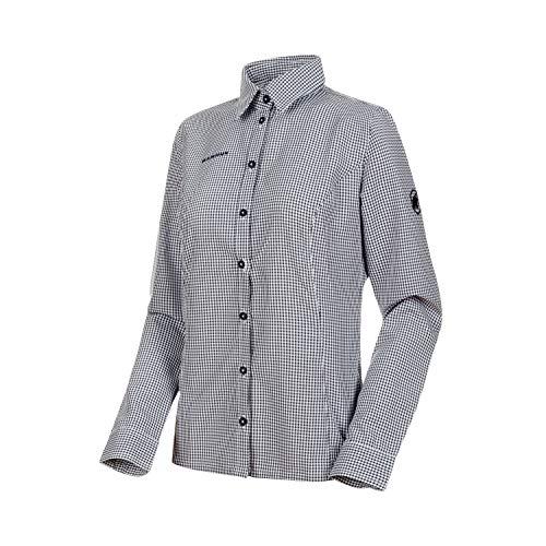 Mammut Damen Aada Langarm-Hemd, Bright White-Peacoat, S