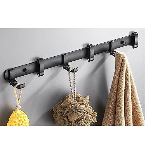 Espacio de aluminio negro dorado oculto con gancho de gancho de gancho de gancho de gancho de gancho de gancho de gancho de gancho de gancho de baño.-C8 simple y elegante combina con el estilo m