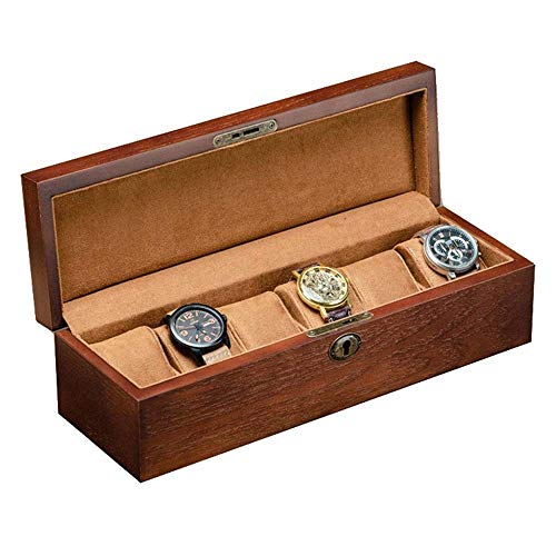 Caja de Almacenamiento de Reloj Caja de Almacenamiento, Elegante Minimalista Rectangular de Reloj Caja de Almacenamiento, 6 Ranuras Reloj Pantalla el Cuadro de Box Collection