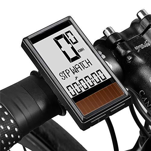 All-Purpose Bicicleta Ordenador Inalámbrico Energía Solar Impermeable Ciclismo Cuentakilómetros Velocímetro Múltiples Funciones...
