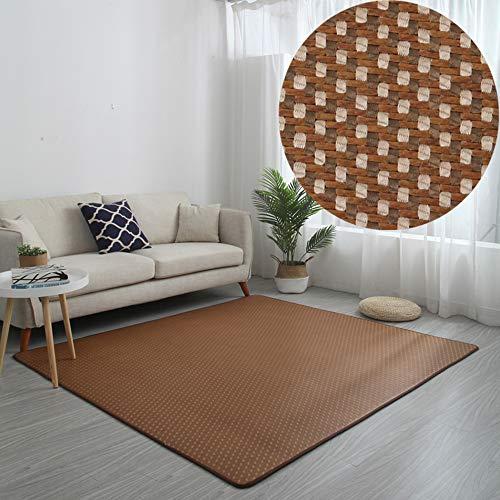 Alfombra / alfombra de seda de hielo de ratán de estilo japonés • Alfombra de la sala de estar • Alfombra de ratán del dormitorio de verano • Colchoneta para niños - antideslizante / transpirable