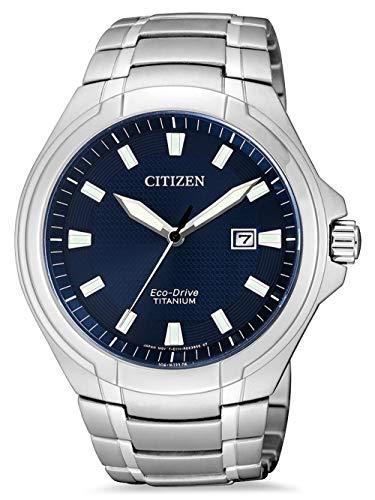 Citizen Reloj Analógico para Hombre de Cuarzo con Correa en Titanio BM7430-89L