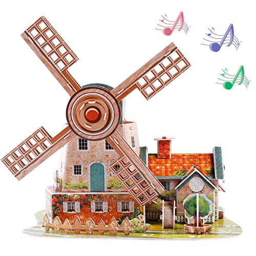 Holland Windmill 3D Jigsaw Puzzle Paper...