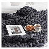 Blanket Chunky Knit Bulky Knit Throw Sofa Couverture Tricot Couverture Couverture À La Main Throw Chambre Décor Couverture Super Grand Lit Canapé Couverture