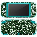 igsticker Nintendo Switch Lite 専用 デザインスキンシール 全面 任天堂 スイッチ ライト 専用 ゲーム機 カバー アクセサリー フィルム ステッカー エアフリー 004734 チェック・ボーダー 和柄 和風 緑 [video game] [video game]
