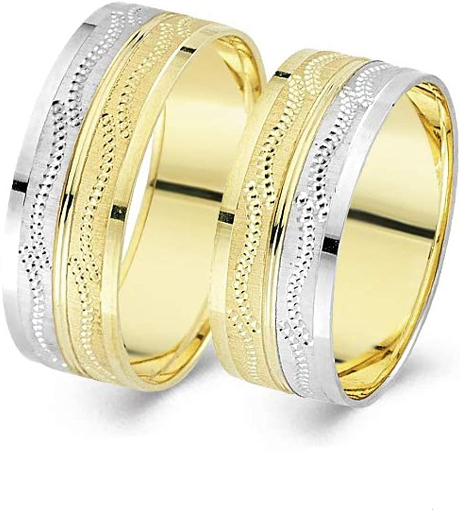 Anelise 14K Real Solid Yellow White Gold 1277 It is very popular Wedding Fine Brand Cheap Sale Venue Band