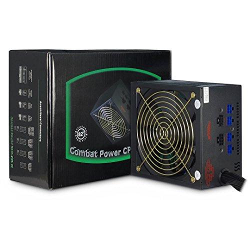 Emobil CPM 750 Watt II modulares ATX Gamer PC Netzteil mit Kabelmanagement leise durch 135mm Lüfter 8X Sata 2X PCIe mit flexiblen Flachbandkabeln