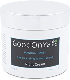 Night Cream with Manuka Honey, Aloe Vera and Cocoa Butter - Anti Aging and Skin Lightening Cream - Organic and Natural Anti Wrinkle, Deeply Hydrating, Pore Minimizer, Moisturizer for Face (2 oz)