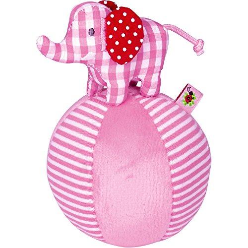 Spiegelburg 13888 Steh-auf-Elefant mit Glockenspiel BabyGlück, rosa
