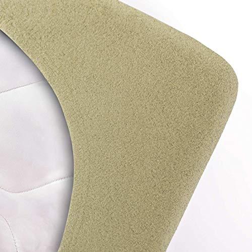 #4 Etérea Teddy Flausch Kinder-Spannbettlaken, Spannbetttuch, Bettlaken, 18 Farben, 60×120 cm – 70×140 cm, Jade Grün - 2