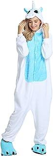 Pijama Unicornio Animal Onesie de Caliente Franela Suave Precioso Unisex Anime Cosplay Ropa Niños Adulto Altura de 90cm a 180cm