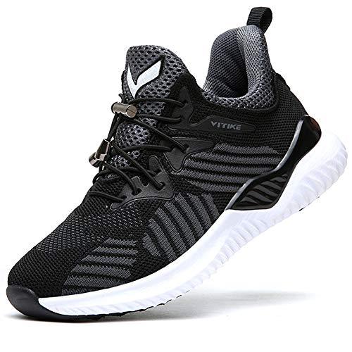 ASHION Kinder Turnschuhe Jungen Sport Schuhe Mädchen Kinderschuhe Sneaker Outdoor Laufschuhe für Unisex-Kinder(A-schwarz,34 EU)