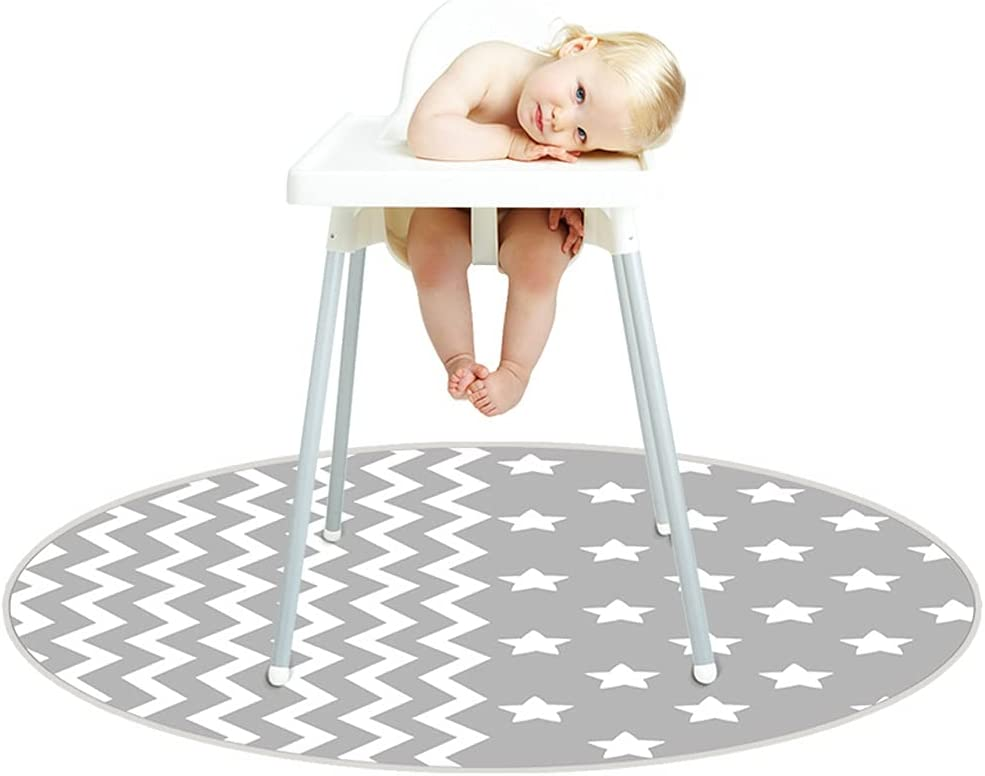 A FEI Washable Highchair Floor Anti-Slip Max 44% OFF Mat- Silicone Spot Mess NEW