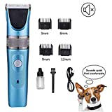 Dog Grooming Clippers, 2-Gang Abnehmbare Klinge Clipper, Professionelle Tier/Hundepflege Hunde...