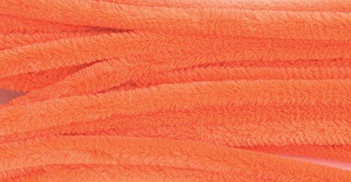 Chenilles / Pipe Cleaners - Orange 12mm x 300mm - 15 Per Pack