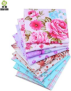 Shuan Shuo New Flower Series Cotton Fabric Quilting Patchwork Fabric Fat Quarter Bundles Fabric For Sewing DIY Crafts Handmade Bags Pillows 40X50cm 9pcs/lot